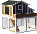 BayWa Bau- & Gartenmärkte Hühnerstall mit Freigehege, 128x143x126 cm, mehrfarbig