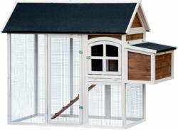 Hühnerstall mit Freigehege, 90x145x180 cm, mehrfarbig