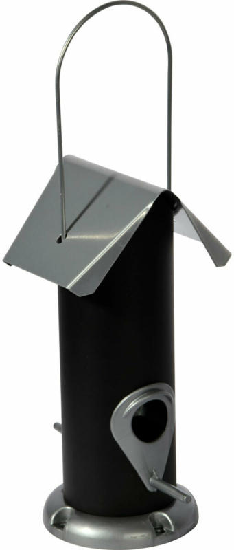 Futterspender, 11x23x11 cm, schwarz/silber