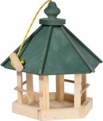 Vogelhaus, 29x36x32 cm, grün/natur, inkl. Kordel