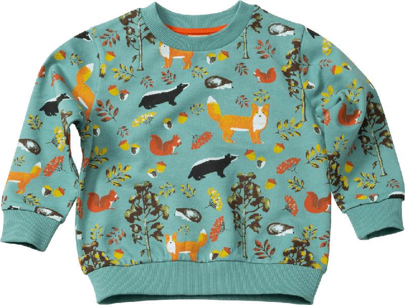 PUSBLU Kinder Pullover, Gr. 104, in Baumwolle, grün