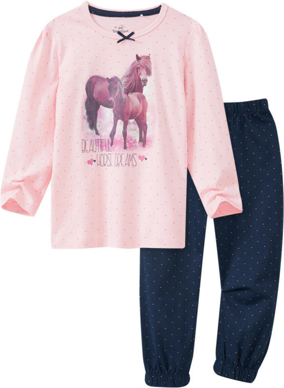 Mädchen Schlafanzug mit Pferde-Fotoprint