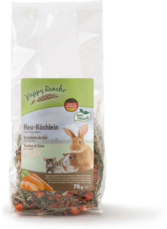 Happy Rancho Snack pour rongeurs tartelette de foin aux carottes 75g