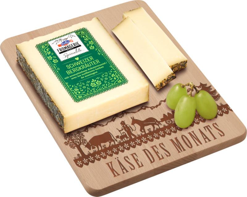 Formaggio a pasta semiduro con erbe di montagna svizzere, con rivestimento alle erbe aromatiche, 200 g