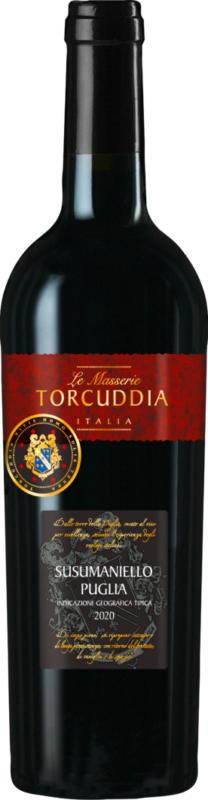 Le Masserie Torcuddia Susumaniello Puglia IGT, 2020, les Pouilles, Italie, 75 cl