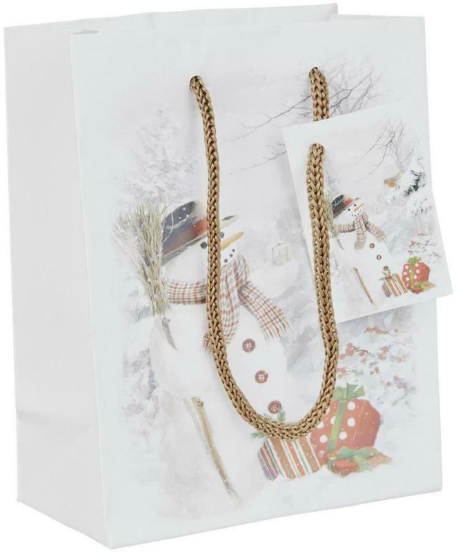 Geschenktasche Schneemann