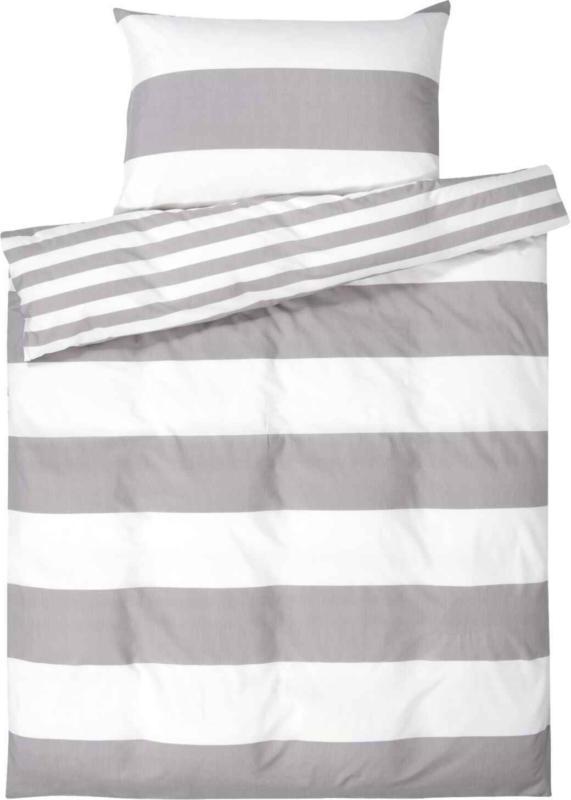 Parure de lit avec motif à rayures -  (Prix de la plus petite taille)