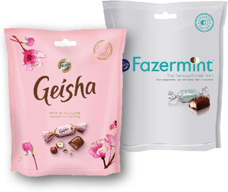 FAZER FAZERMINT, GEISHA, LIQUER FILLS 160-165G