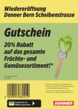 Wiedereröffnung: 20% auf Früchte & Gemüse!