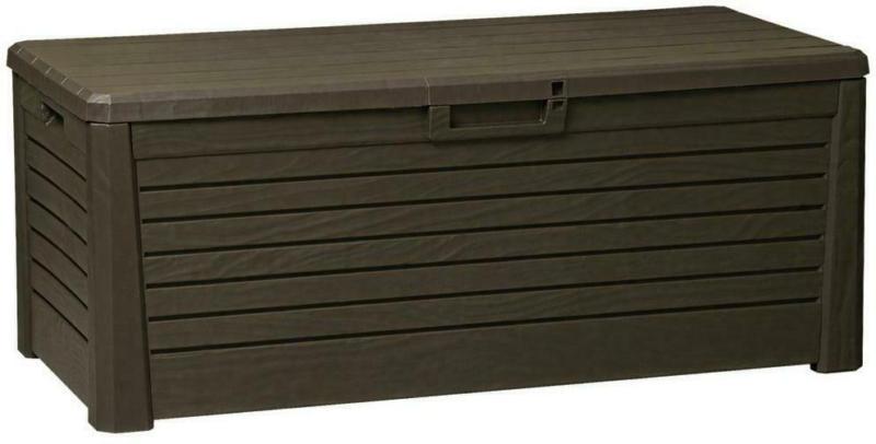Kissenbox Wasserdicht Woody 148x60x72cm, 550l Braun