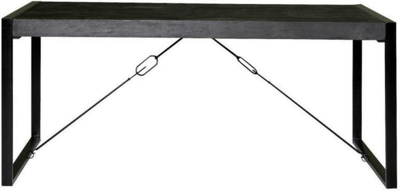 Esstisch in Holz, Metall 200/100/76 cm