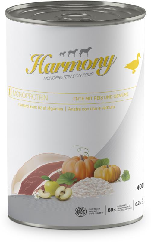 Harmony Dog Monoprotein Ente mit Reis & Gemüse 6x400g