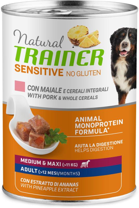 Trainer Nourriture pour chien Sensitive No Gluten Medium & Maxi Adult Porc 12x400g