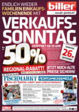 Möbel Biller: Verkaufsoffener Sonntag!