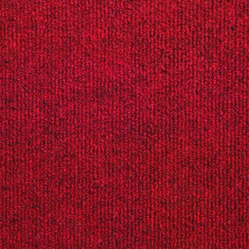 Teppichfliese Rex 50x50 cm, Rot