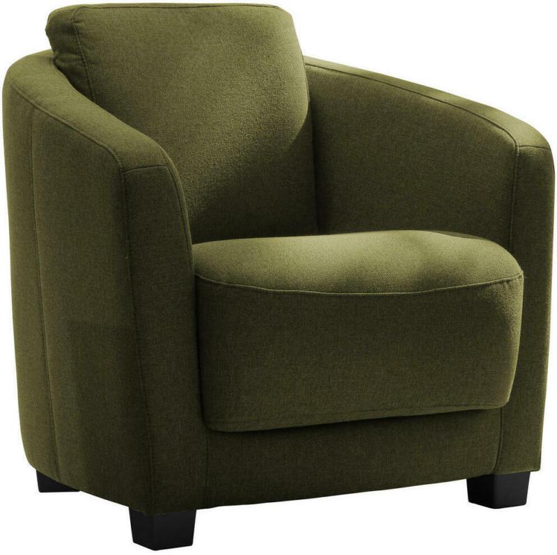 Sessel in Textil Olivgrün