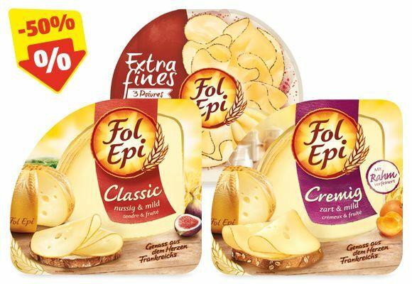 FOL EPI Käsescheiben, 150 g/130 g/100 g/90 g