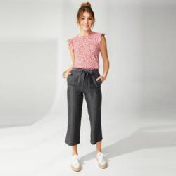 Damen-Culotte im Jeans-Look, mit Bindegürtel