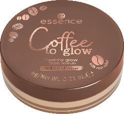 essence cosmetics Gesichtspeeling Coffee to glow healthy glow face scrub mit Koffein