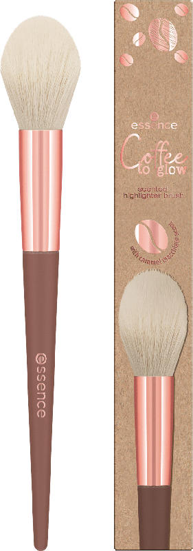 essence cosmetics Highlighter Pinsel Coffee to glow scented highlighter brush