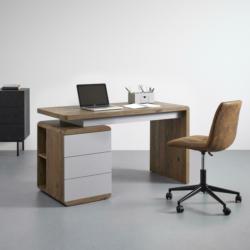 Schreibtisch 'Lovino' ca. 135x59 cm, dunkle Eiche