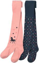 2 Mädchen Strumpfhosen mit Pferde-Motiv