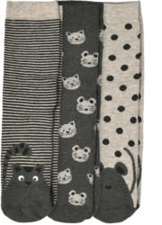 3 Paar Damen Socken mit Tier-Motiven