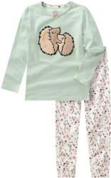 Mädchen Schlafanzug mit Igel-Applikation
