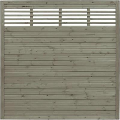 Sichtschutzzaun Element Nicea Grau 180 cm x 180 cm