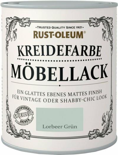 Rust-Oleum Kreidefarbe Möbellack Lorbeergrün Matt 750 ml