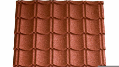 Easypan Metalldachpfanne Ziegeloptik Granulat Rot