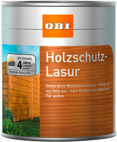 OBI Holzschutz-Lasur Transparent 5 l