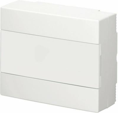 Aufputz-Verteiler 1-reihig mit Tür IP 40 Weiß