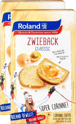 Zwieback Classic Roland duo, 2 x 250 g