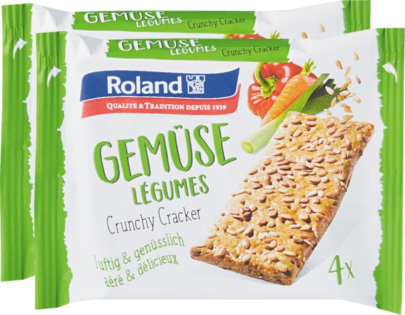 Roland Crunchy Cracker, Verdure, 2 x 130 g