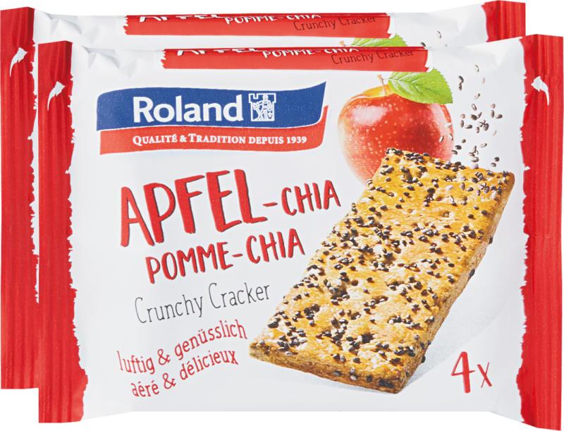 Roland Crunchy Cracker, Pomme-Chia, 2 x 130 g