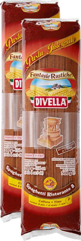 Spaghettis Ristorante 8 complets Divella, 2 x 500 g