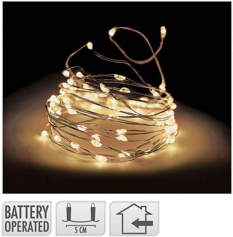 Catena luminosa 100 LED indoor trasparente -