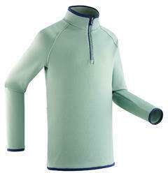 Skiunterwäsche Funktionsshirt Freshwarm Reißverschluss Kinder mintgrün