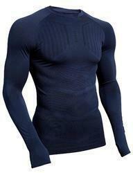 Funktionsshirt langarm Keepdry 500 Erwachsene dunkelblau