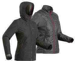 3-in-1-Jacke Travel 500 wasserdicht Komfort bis -8 °C Damen schwarz