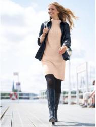 Damen-Strickkleid mit Zopfmuster