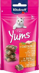 Vitakraft Snack für Katzen, Cat Yums mit Huhn & Katzengras