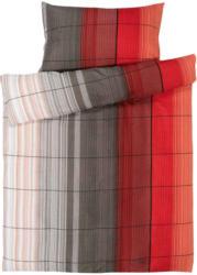Bettwäsche Streifen rot-grau -  (Preis für kleinste Grösse)
