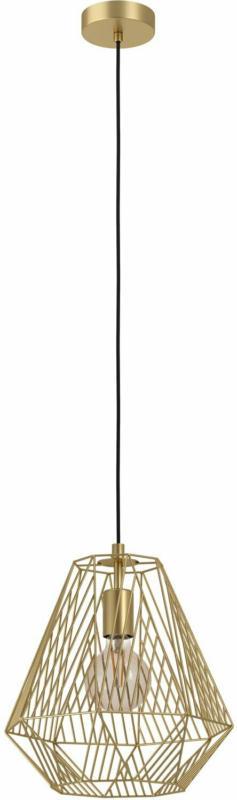 Eglo Pendelleuchte 1-flammig Stype Messing gebürstet H: 110 cm Ø: 36 cm
