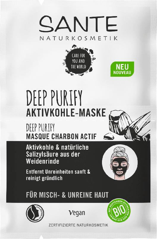 Sante Maske Deep Purify Aktivkohle 2x4ml