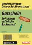 Denner Wiedereröffnung: 20% auf Backwaren! - al 09.10.2021