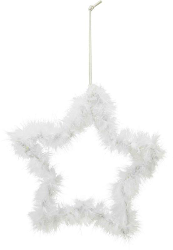 Dekohänger Star in Weiß
