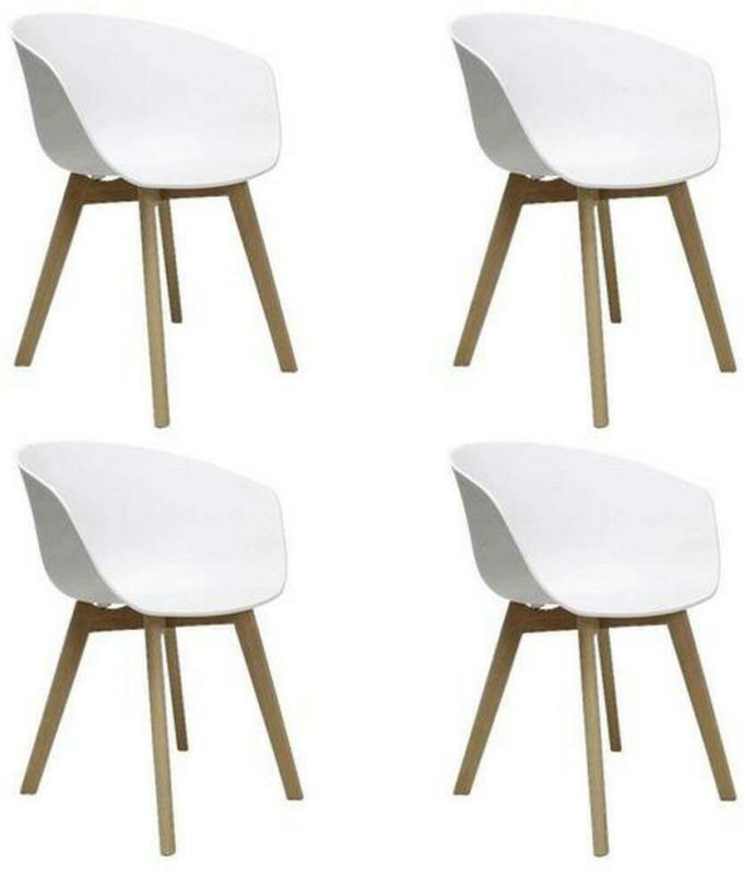 Stuhl-Set Noan 4-Er Set Weiß