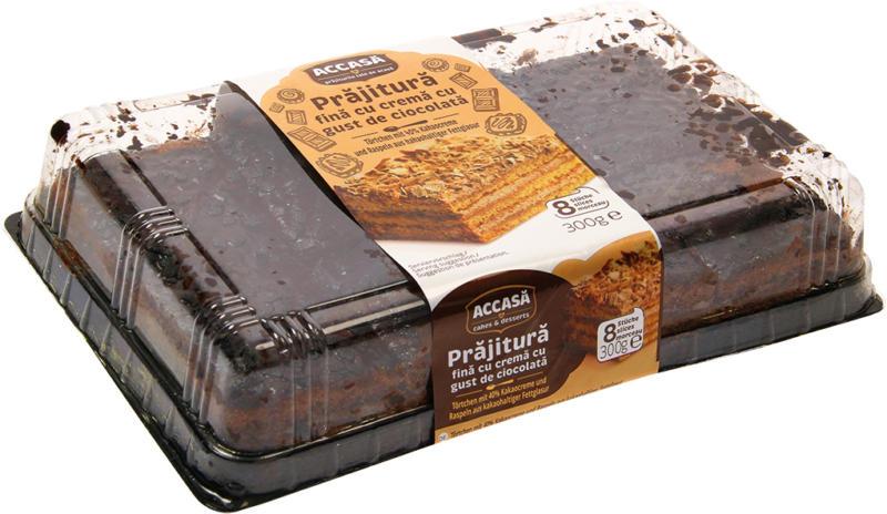 Törtchen mit 40% Kakaocreme und Raspeln aus kakaohaltiger Fettglasur
